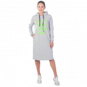 Платье из футера ФП1357П7 серый меланж