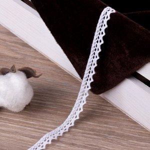 Кружево вязаное, 8 мм ? 15 ± 1 м, цвет кипенно-белый