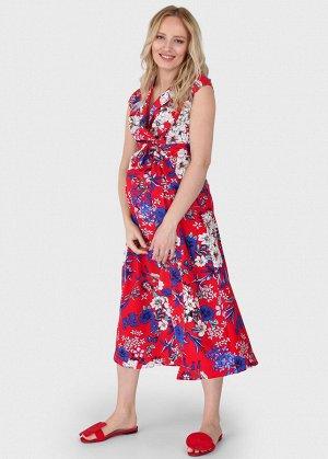 """Платье """"Уэнди"""" для беременных и кормящих красное"""