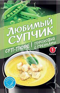 Суп быстрого приг. СУП-ПЮРЕ ГОРОХОВЫЙ С ГРЕНКАМИ  15г*30