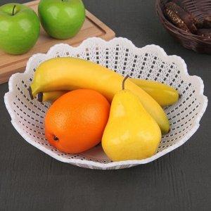 Ваза для хлеба и фруктов «Вязание», 26?7 см, рисунок МИКС