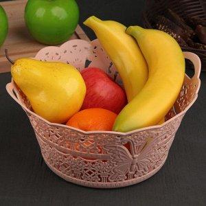 Ваза для хлеба и фруктов круглая «Бабочка», цвет МИКС