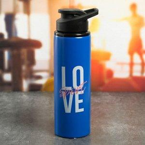 Бутылка металлическая «Love», 900 мл