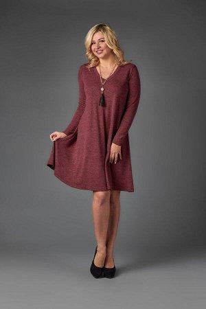 Платье П 715 (меланж бордовый)