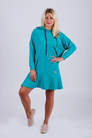 Платье П 610 (изумрудный)