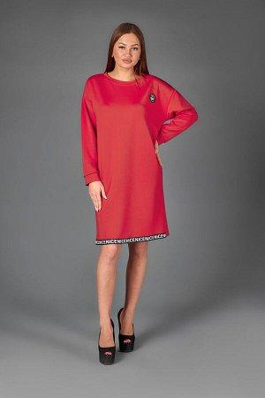 Платье П 499 (красный)