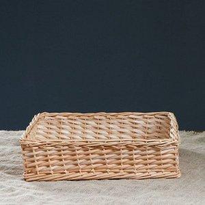 Лоток плетеный. 40 х 35 х 10 см