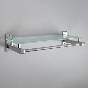 Полка для ванной комнаты 40?14,5?7 см, металл, стекло