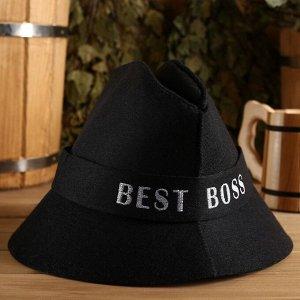 """Шапка банная """"Best Boss"""", экофетр"""