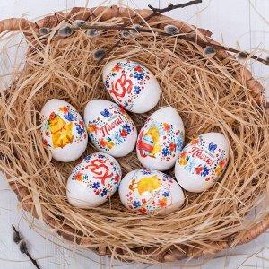Пасхальная термоусадочная плёнка «Цыплята с вербой», на 7 яиц