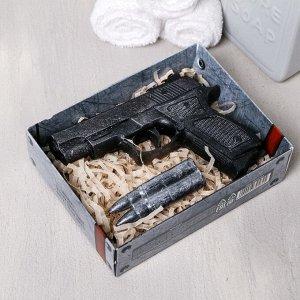 """Набор """"23 Февраля"""" мыло пистолет. мыло пуля"""