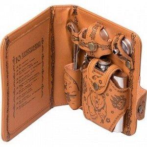 Набор-сумка (фляжка 210 мл +стакан раскл.+воронка+нож,вилка, ложка)  GT-PB01