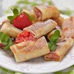Блинчики с ягодой(клубника) 0,5кг