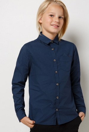Сорочка верхняя детская для мальчиков Sinan темно-синий