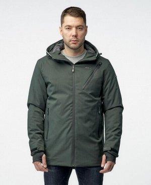 Куртка ТЕМНО-СИНИЙ ЧЕРНЫЙ ТЕМНО-СЕРЫЙ ЗЕЛЕНЫЙ Стильная мужская куртка, изготовлена из качественной ветрозащитной ткани с водоотталкивающим покрытием. Два боковых кармана на молниях, нагрудный карман н