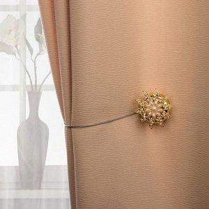 Подхват для штор «Солнечный цветок». d = 5.5 см. цвет золотой