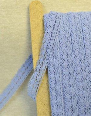 Кружево хлопок-100%, 25мм, цв.голубой 2