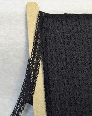 Кружево хлопок-100%, 25мм, цв.черный
