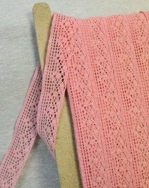 Кружево хлопок-90%, п/э-10%, 34мм, цв.коралловый св.розовый