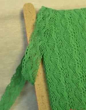 Кружево хлопок-90%, п/э-10%, 38мм, цв.зеленый 2