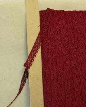 Кружево хлопок-90%, п/э-10%, 12мм, цв.бордовый