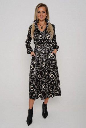 Платье Длина платья измеряется по линии спинки от основания шеи до линии низа изделия. Для размеров 42, 44, 46 длина платья составляет 122 см, для размера 48 - 123 см, для размера 50 - 124 см, для раз