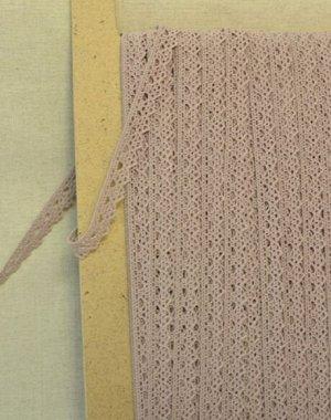 Кружево хлопок-90%, п/э-10%, 12мм, цв.розово-серый
