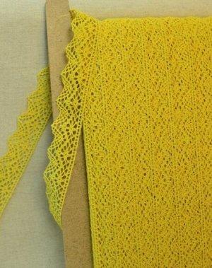 Кружево хлопок-90%, п/э-10%, 32 мм, цв.желтый 2