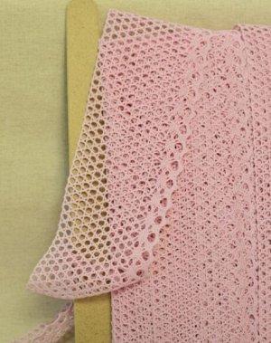 Кружево хлопок-90%, п/э-10%, 80 мм, цв.светло-розовый