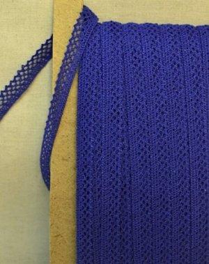 Кружево хлопок-90%, п/э-10%, 10мм, цв.синий (вид 2)