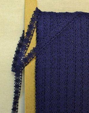 Кружево хлопок-90%, п/э-10%, 12мм, цв. темно-синий