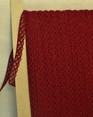 Кружево хлопок-90%, п/э-10%, 13мм, цв.бордовый