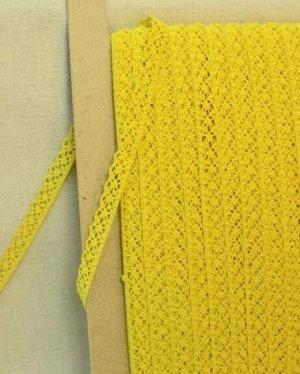 Кружево хлопок-90%, п/э-10%, 13мм, цв.желтый 2