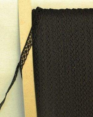 Кружево хлопок-90%, п/э-10%, 13мм, цв.черный