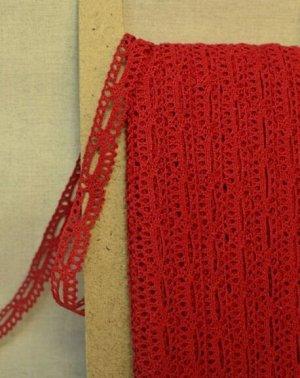 Кружево хлопок-90%, п/э-10%, 16мм, цв.красный