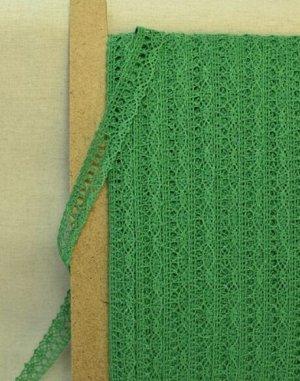 Кружево хлопок-90%, п/э-10%, 18мм, цв.зеленый 2