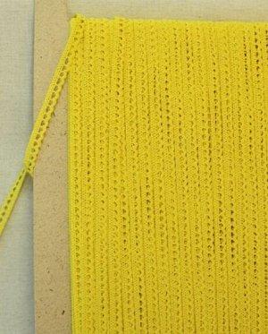 Кружево хлопок-90%, п/э-10%, 8мм, цв.желтый 2