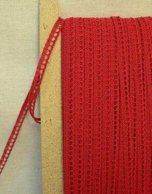 Кружево хлопок-90%, п/э-10%, 8мм, цв.красный