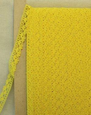 Кружево хлопок-90%, п/э-10%, 20 мм, цв.желтый 2