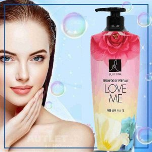 "Парфюмированный шампунь для всех типов волос "" Elastine Perfume Kiss the rose"", 600 мл"