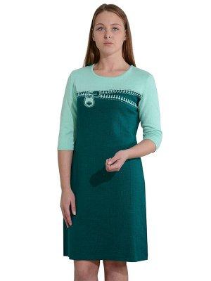 Платье женское 261-3140 Цвет: Малахит+Ментол