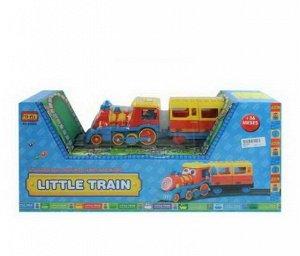 Железная дорога (паровоз, набор рельс (22)), эл/мех со световыми и звуковыми эффектами 56x12x25см