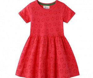 Яркое платье с коротким рукавом