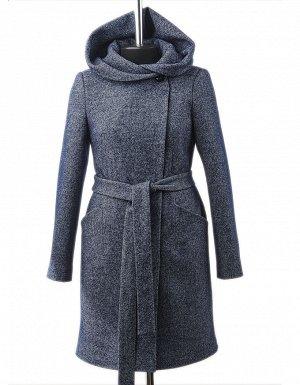 Пальто Длина по спине: 92 см. Длина рукава: 63 см. Ткань: Пальтовая ткань , меланж на трикотаже