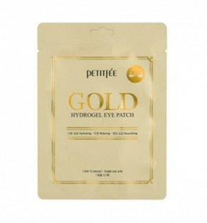 Гидрогелевые патчи с золотом для кожи вокруг глаз Petitfee Gold Hydrogel Eye Patch (1pair / 2pcs)
