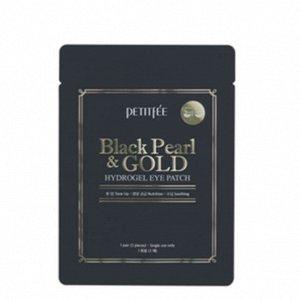 Гидрогелевые патчи для лифтинга кожи вокруг глаз Petitfee Black Pearl & Gold Hydrogel Eye Patch (1pair / 2pcs)