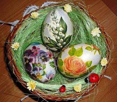 Канун праздника лучше самого праздника. Новинки  — Салфетки для декорирования яиц в технике декупаж — Пасха