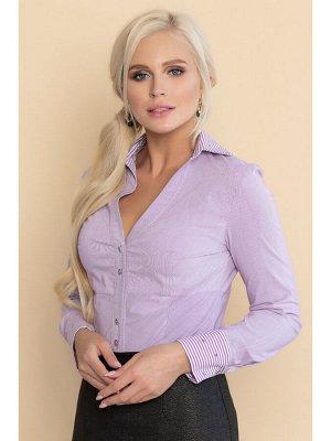 Блуза КЛАУДИЯ полоска с принтом