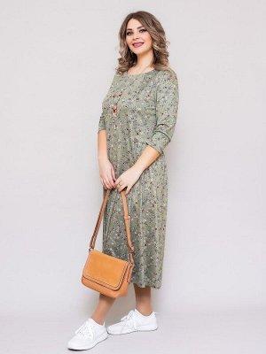 Платье Алена светло зеленый