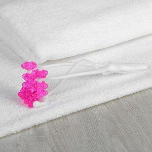 Массажёр для лица и шеи «Трезубец», цвет белый/розовый